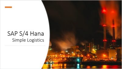 SAP S4 Hana Simple Logistics